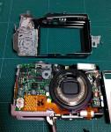 赤外線カメラに改造中の IXY 810 IS