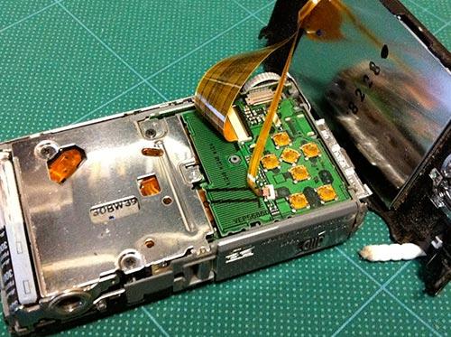 パナソニック, Panasonic DMC-FX35 の分解