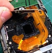 DMC-FX35 を赤外線改造9:赤外フィルタを組み込み